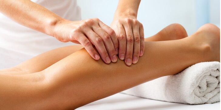 Manuální 50minutová lymfatická masáž dolních končetin