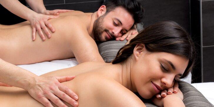 Hodina božské relaxace pro vás dva: výběr ze 6 masáží, dopolední i odpolední termíny