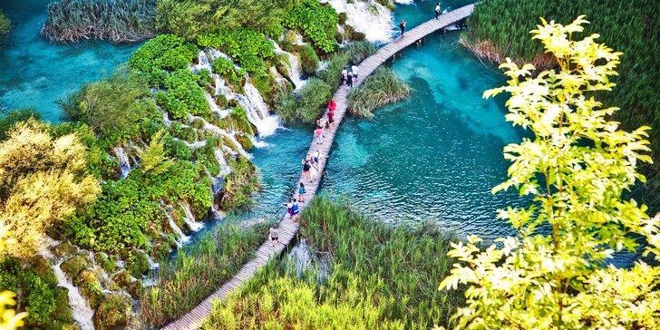 Po stopách Vinnetoua: výlet na Plitvická jezera pod ochranou UNESCO i návštěva Záhřebu