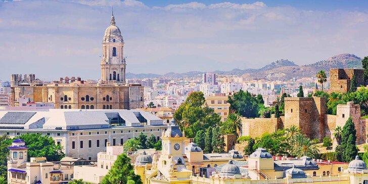 Letecky do Andalusie: 6 nocí se snídaní, průvodce, koupání, návštěva Malagy a další program