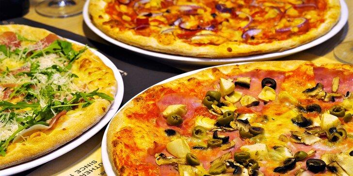 Vyzkoušejte chuť Itálie: 2 libovolné pizzy z pece na dřevo v restauraci U Fidela