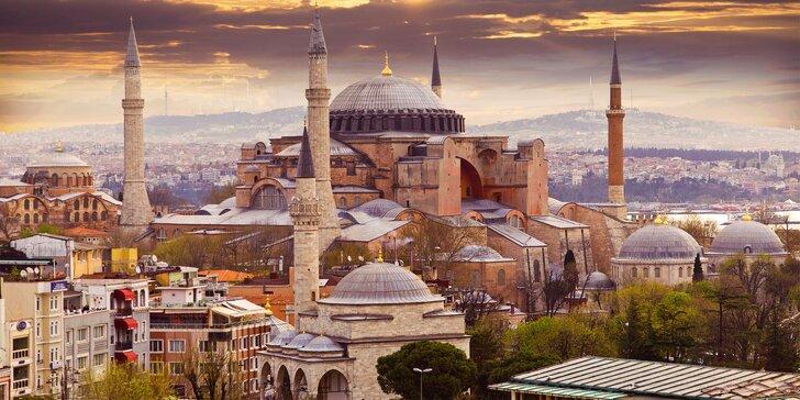 Pobyt ve slunném Istanbulu: hotel 300 m od moře a snídaně