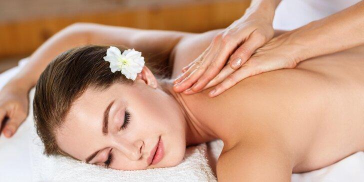 Čas jen a jen pro vás: hodina a půl odpočinku - masáž těla i obličeje
