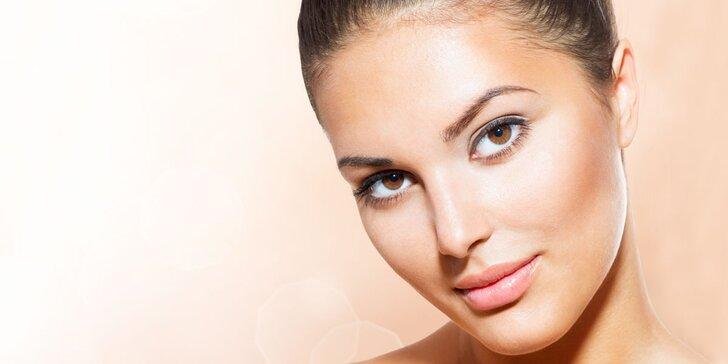 Liftingové kosmetické ošetření pleti včetně masáže obličeje a dekoltu