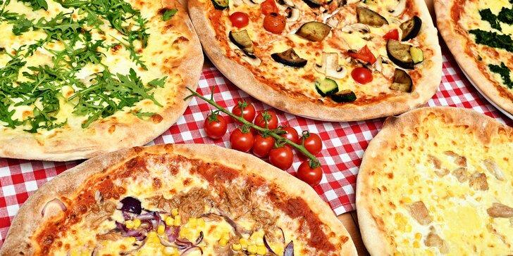 Bašta pro 1 či 2 osoby: křupavá pizza a domácí limonáda nebo ledový čaj