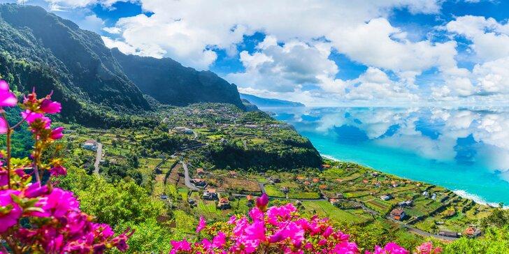 Letecký zájezd na Madeiru: 7 nocí ve 4* hotelu se snídaní, bohatý program i festival ohňostrojů