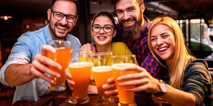 Metr piva v Počernickém pivovaru: 10 piv dle výběru z nabídky na čepu