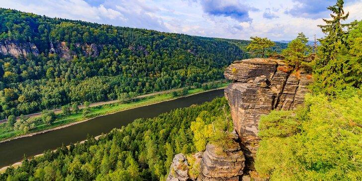 Výlet do Saského Švýcarska: turistický okruh na Velký Zschirnstein a vyhlídka Belvedér