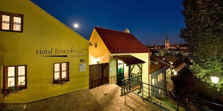Hotel ze 17. století v centru Třebíče: snídaně, prohlídka památek i sauna