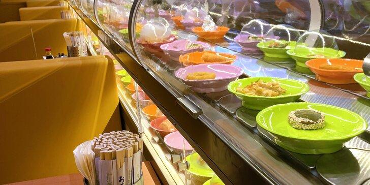 Neomezené hodování: 2 hodiny running sushi v Obchodním domě Prosek