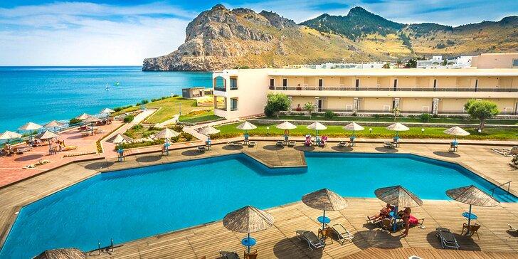 4* relax na Rhodosu: hotel na pláži, all inclusive a blízko do hlavního města i Lindosu