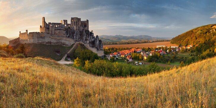 Pobyt kousek od Čachtického hradu: snídaně či polopenze i zapůjčení kol