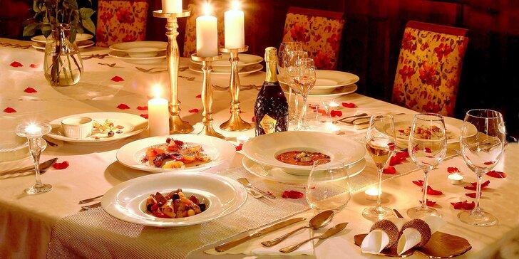 Zažijte romantiku: středomořské 5chodové menu při svíčkách a s přípitkem