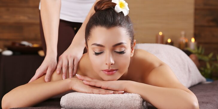 Luxusní balíček: 110 minut skvělého relaxu s masáží dle výběru v salonu Elite