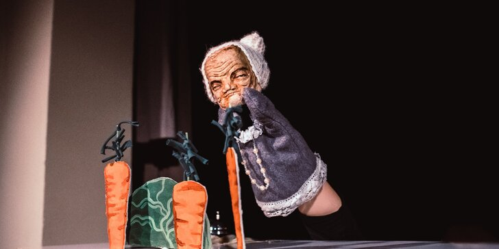 2 vstupenky na loutkovou pohádku Otesánek v divadle Zvoneček