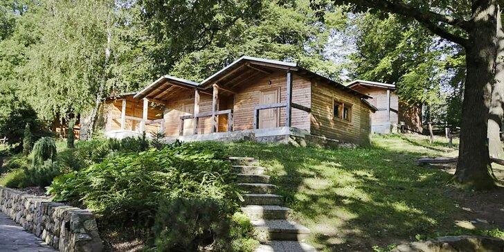 Jarní prázdniny pro rodiny i romantika ve 2 ve srubových chatkách Bunč