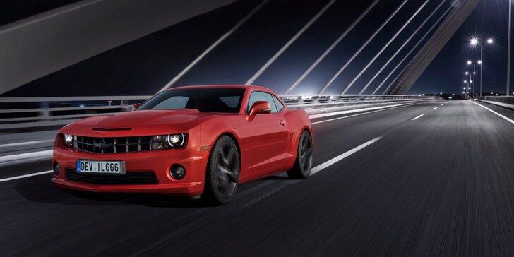 Zapůjčení ďábelského Chevroletu Camaro V8 s výkonem 400 koní na 12–48 hodin