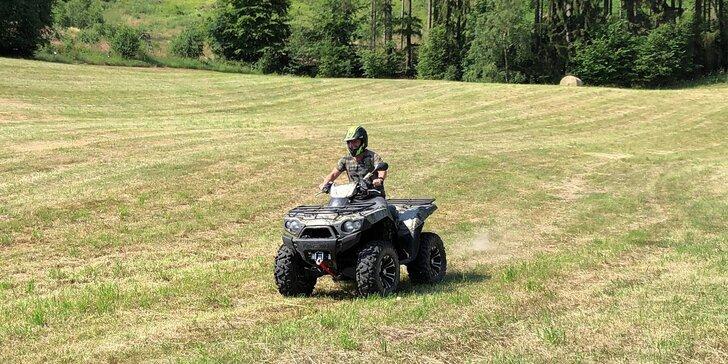 Adrenalinová jízda přírodou: 15 min. na robustní čtyřkolce Kawasaki Bruteforce 750 pro 1 osobu