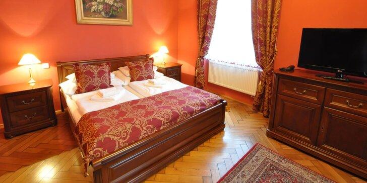 Prvorepublikový 4* hotel v Jičíně na 1–2 noci s jídlem, privátním wellness i masáží