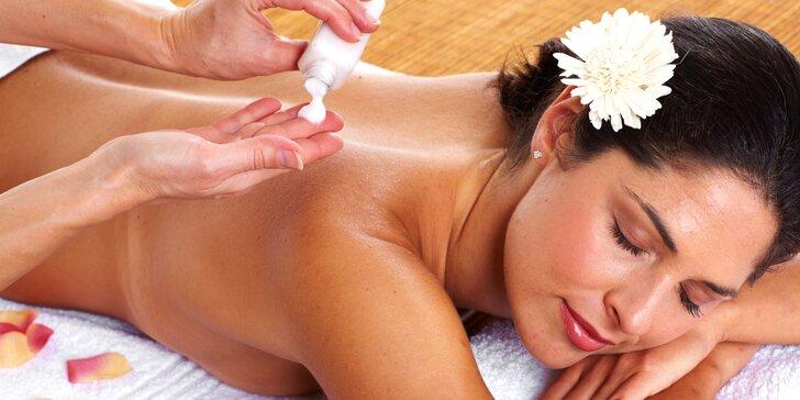 Prázdniny pro vaše tělo: relaxační i exotické masáže dle výběru ze 7 druhů