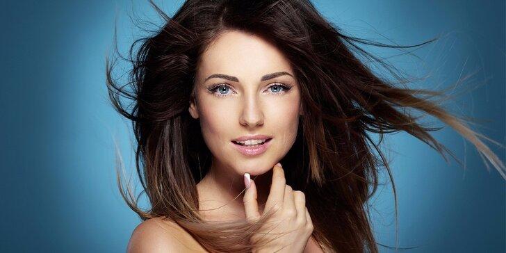 Barvení, foukaná, styling a vlasová regenerační maska pro všechny délky vlasů