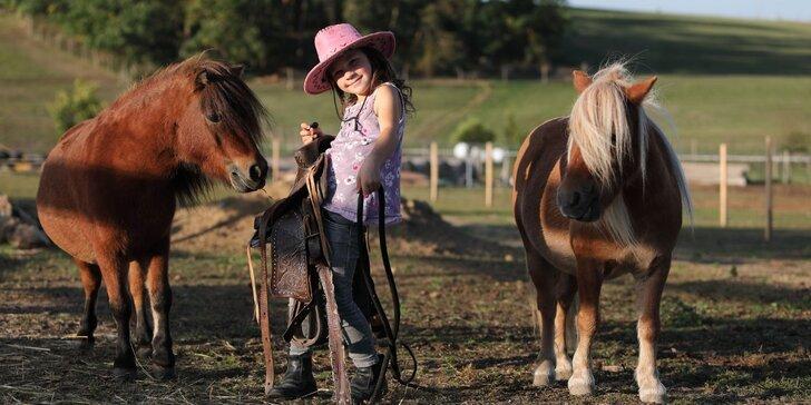 Hrátky se zvířátky na farmě a jízda na koni pro celou rodinu