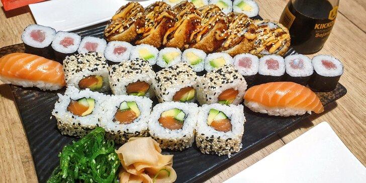 Asie v centru Olomouce: 32 ks sushi s lososem, tuňákem, okurkou i avokádem