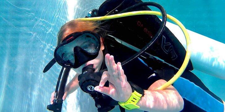 Potápěčem na zkoušku: ponor s instruktáží a zapůjčením výstroje pro děti i dospělé