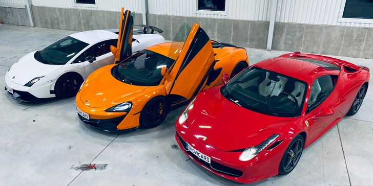 20 min. v autě snů: Porsche 911, Ford Mustang, Lamborghini Gallardo i Ferrari 458