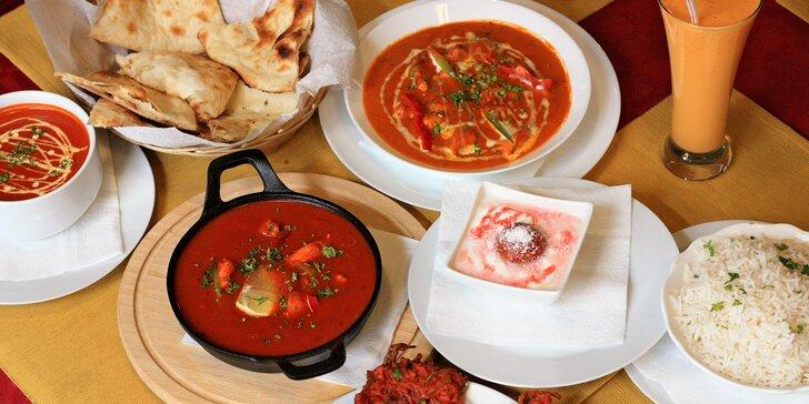 Zažijte Indii: menu podle výběru pro 2 nebo 4 osoby