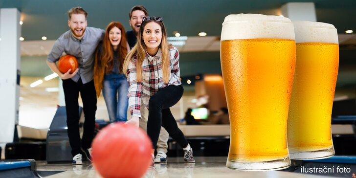 Zábavný večer: 60 min. bowlingu na profi dráze a 4 velká piva Švec 10°