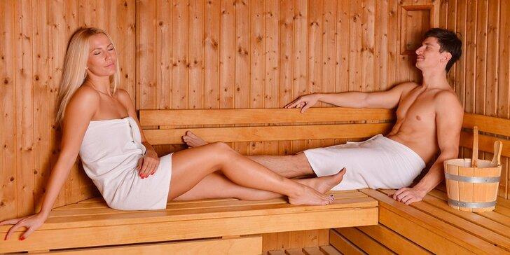 Privátní wellness se saunou, vířivkou pro dva