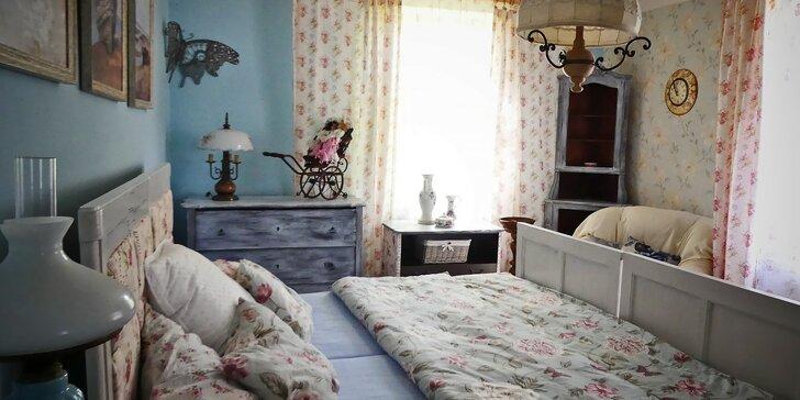 Stylové ubytování v romantickém venkovském apartmánu pro 2 až 6 osob