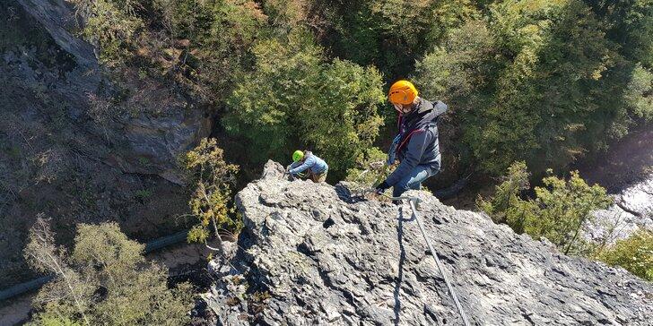 Zážitkový kurz Via ferrata lezení vč. instruktáže na břehu řeky Lužnice