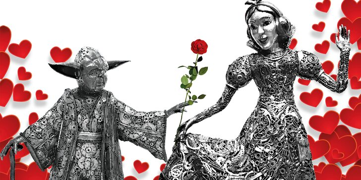 Dárek k Valentýnu: vstupenka do Galerie ocelových figurín pro 2 osoby