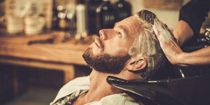 Pánský střih včetně masáže hlavy, stylingu i poradenství