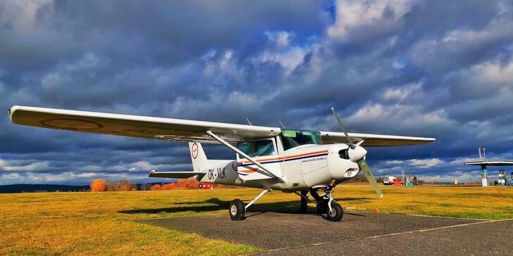 Pilotem na zkoušku nebo soukromý zážitkový let pro 2 osoby