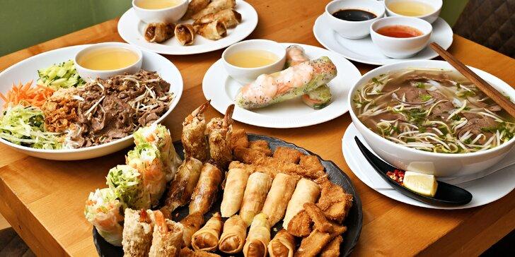 Vietnamské dobroty na Kulaťáku: menu pro 1 nebo 2 osoby i mix předkrmů