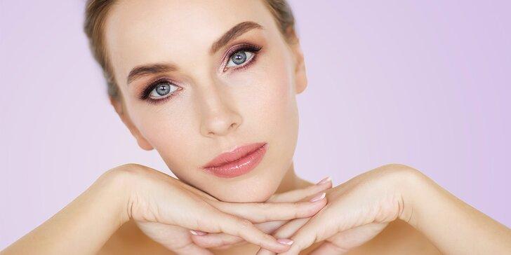 Nabitý balíček kosmetické péče: ošetření obličeje možno i s dekoltem či mikromasáží očního okolí