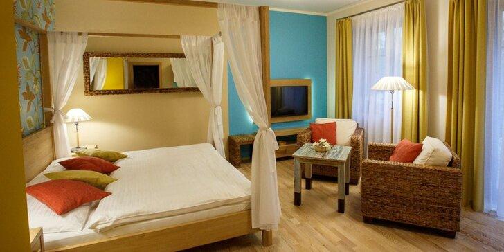 Luxusní apartmány se snídaní a wellness nedaleko Luhačovické kolonády