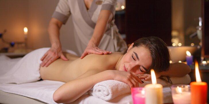 Luxusní 70minutový balíček: thajská masáž, oxygenoterapie a miska ovoce