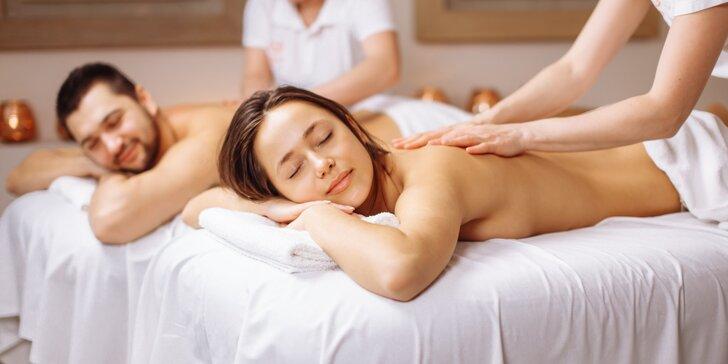 Romantická párová masáž: královské thajské masáže 60 i 90 minut