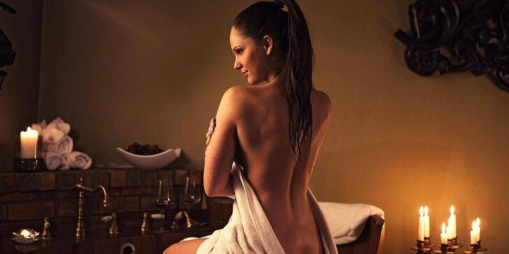 Relaxační rituál s koupelí, masáží a pohoštěním i degustační večeře pro dva