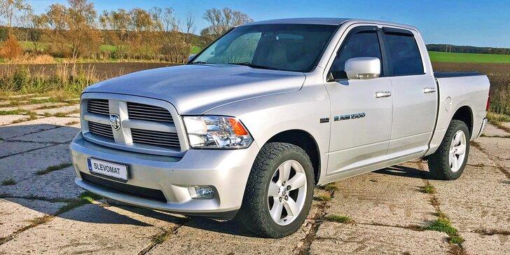 Adrenalin v monstru: spolujízda, řízení i zapůjčení Dodge RAM 1500