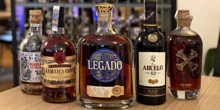 Řízená degustace pro 1–4 osoby: rumy z Panamy, Jamajky i Paraguaye