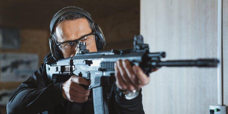 Až 7 zbraní nebo 100 nábojů: Střelba s instruktorem i bez zbrojního průkazu