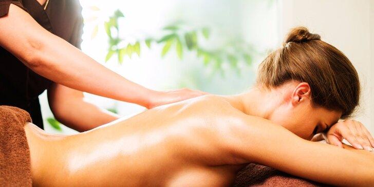 Hluboce uvolňující psychosomatická masáž: 90 nebo 120 minut