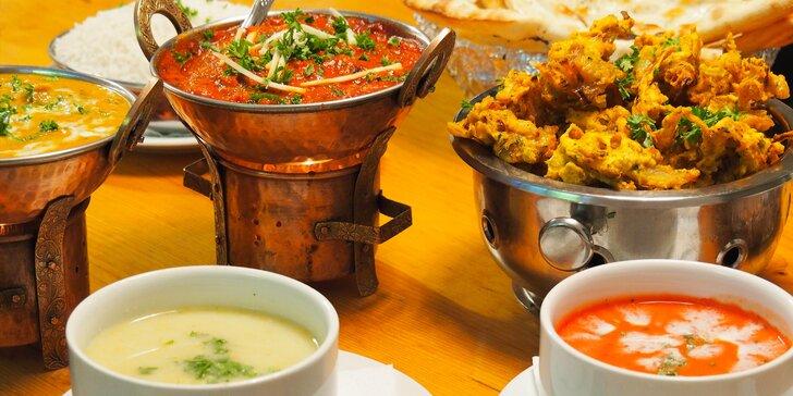 3chodové nepálské menu: na výběr 12 hlavních chodů vč. vegetariánských