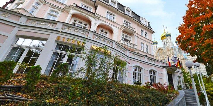 Pobyt v hotelu Eliška v Karlových Varech až pro 4 os.: polopenze a procedury