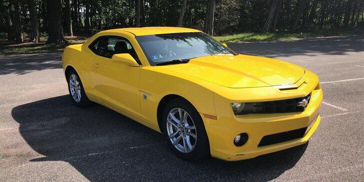"""Řízení i zapůjčení sporťáku Chevrolet Camaro """"Bumblebee"""" z filmu Transformers"""